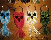 Macrame Owl Key Ring - Keyring - Key Chain
