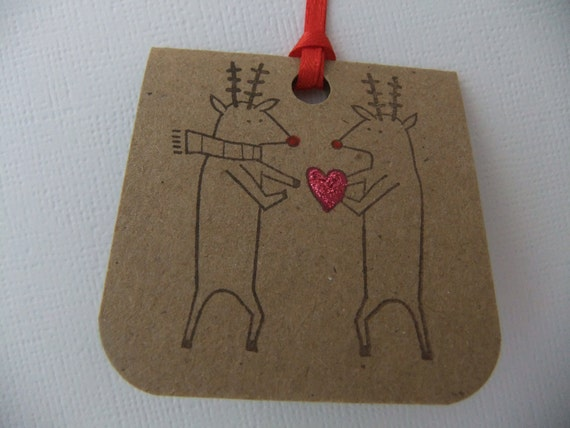Love from Reindeer Tags Set of 6