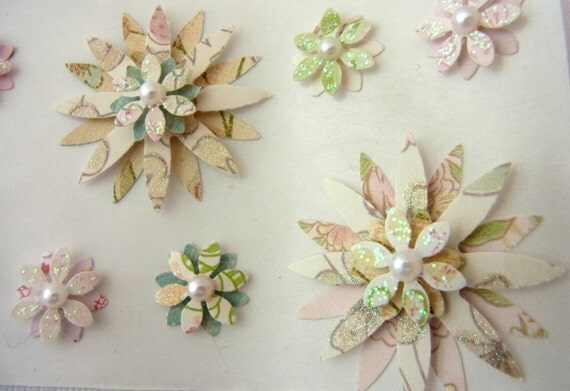 Dimensional Flower Stickers Set of 12