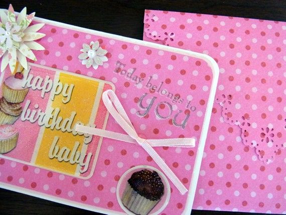 Happy Birthday Baby Card and Envelope