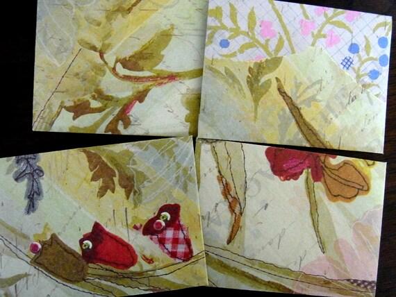 Shabby Chic Mini Envelope Set of 4 - Stitch