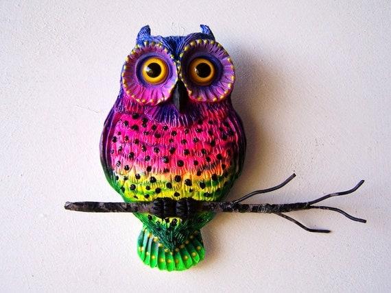 Owl sculpture whimsical owl art