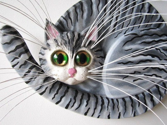 Whimsical cat  sculpture