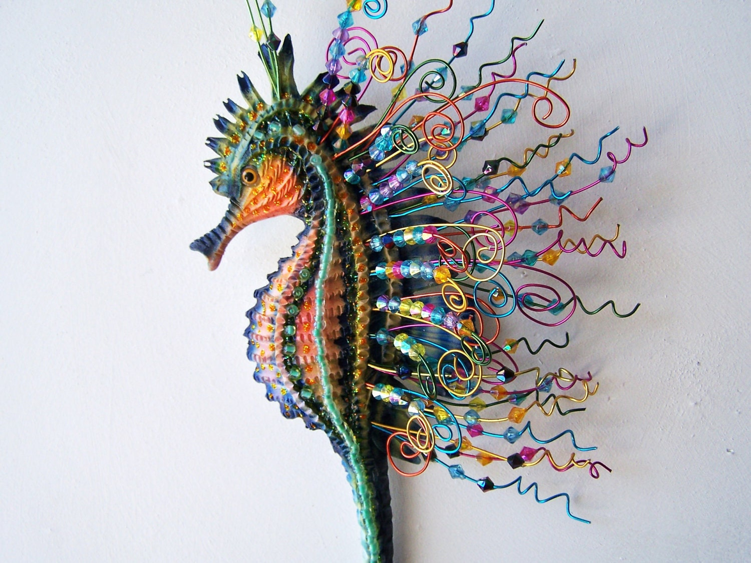 seahorse sculpture wall bathroom decoration