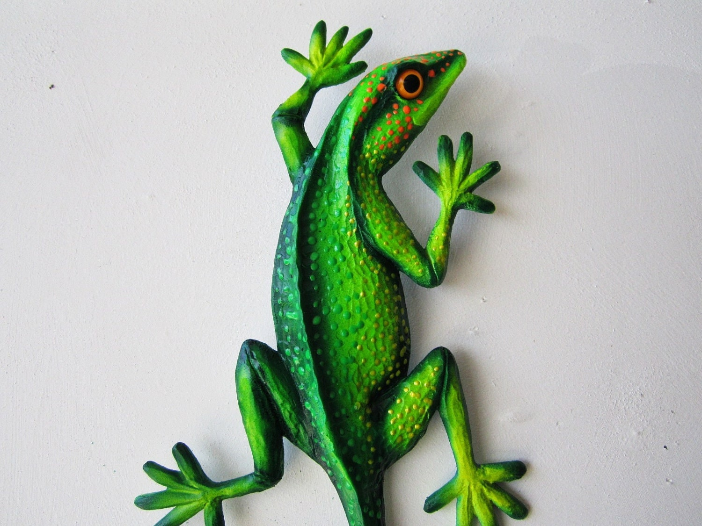 Outdoor Wall Decor Gecko : Reptile art lizard sculpture gecko wall decor
