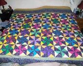 Party Pinwheels-Queen size quilt top
