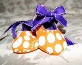 Clemson Purple and Orange Baby Shoes 0-12 Months