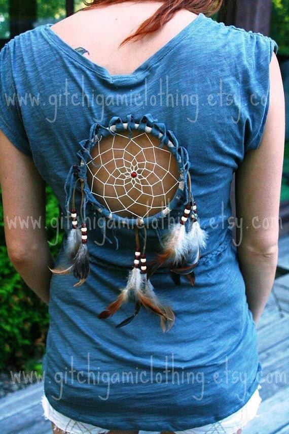 Custom for Reschnikki Dreamcatcher Native Cut Out Tribal Peek-a-Boo Top