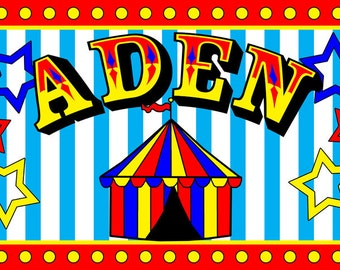 Children's  Circus Placemats - Personalized Party Favor