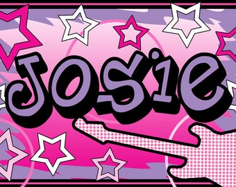 Children's Personalized Rock Star Placemat - Party Favors