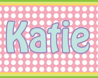 Pancakes and Pajamas Personalized Placemats - Party Favors