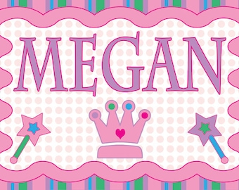 Personalized Children's Princess Placemats - Party Favors