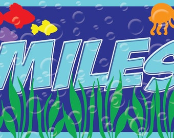 Personalized Children's Underwater Placemats - Party Favors