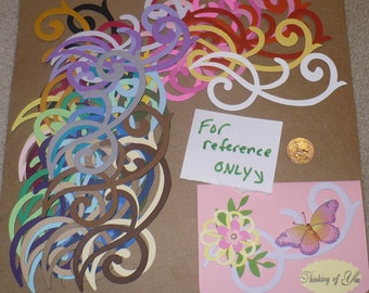 38 Accent Swirl Die Cut pieces made from Sizzix die cut from Rainbow color cardstock paper