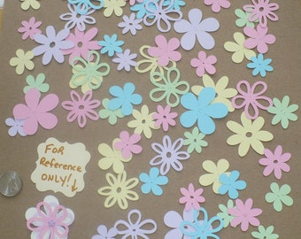 Assorted Cricut Die Cut Flowers / Blooms over 50 pieces Embellishments Made from Pastel cardstock