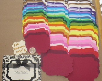 114 PC Layering Shapes Rainbow 3 Sizes Die Cut pieces Made from Rainbow color cardstock paper