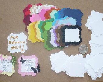38 PC Square Bracket Punchies / Punches - Shapes Rainbow pieces Made from Rainbow color cardstock paper