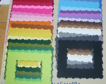 38 pc Rainbow Squiggly  Frames Die Cuts Cardstock craft for DIY Projects picture frames Bulletin Boards Scrapbook etc.