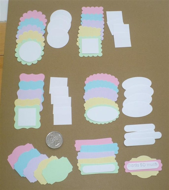 Assorted Stampin Up Punchies Pastel Cardstock Great for Stamping