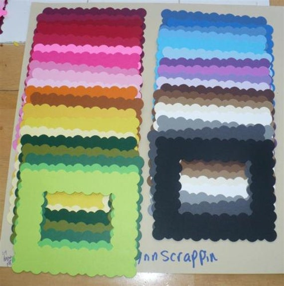 Items Similar To 38 Pc Rainbow Squiggly Frames Die Cuts