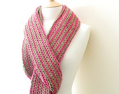 SALE Long funky SCARF- lime green- hot pink