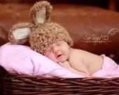 CUSTOM LISTING for Alexis Keenan 2 Crochet Baby Bunny Hat - Lt Blue Flower and Lt Green Flower Clip