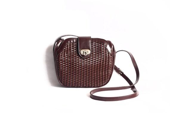 Woven Mini Chocolate Brown Shoulder/Cross Body Bag