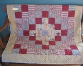 Old Fashioned Cranberry Lap Quilt