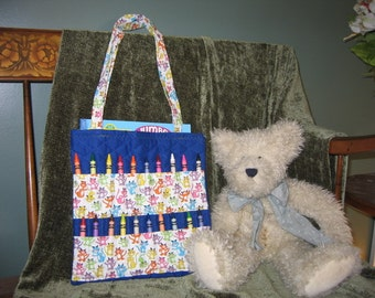 Coloring Book Carrier with Book and Crayons