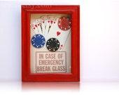 Poker Full House Survival Kit - In Case of Emergency - Funny Birthday Gift Boyfriend Bachelor Party  Gift for Men Rusteam Casino Poker Chips