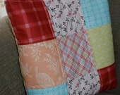 SUPER End of Summer SALE! Tote Bag, Quilted Patchwork Greens, Pinks, Blues