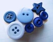 Blue Button Magnet Fun Kitchen Organization