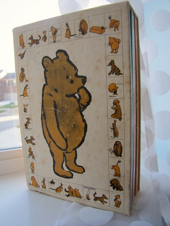 Vintage Winnie the Pooh book set by A. A. Milne