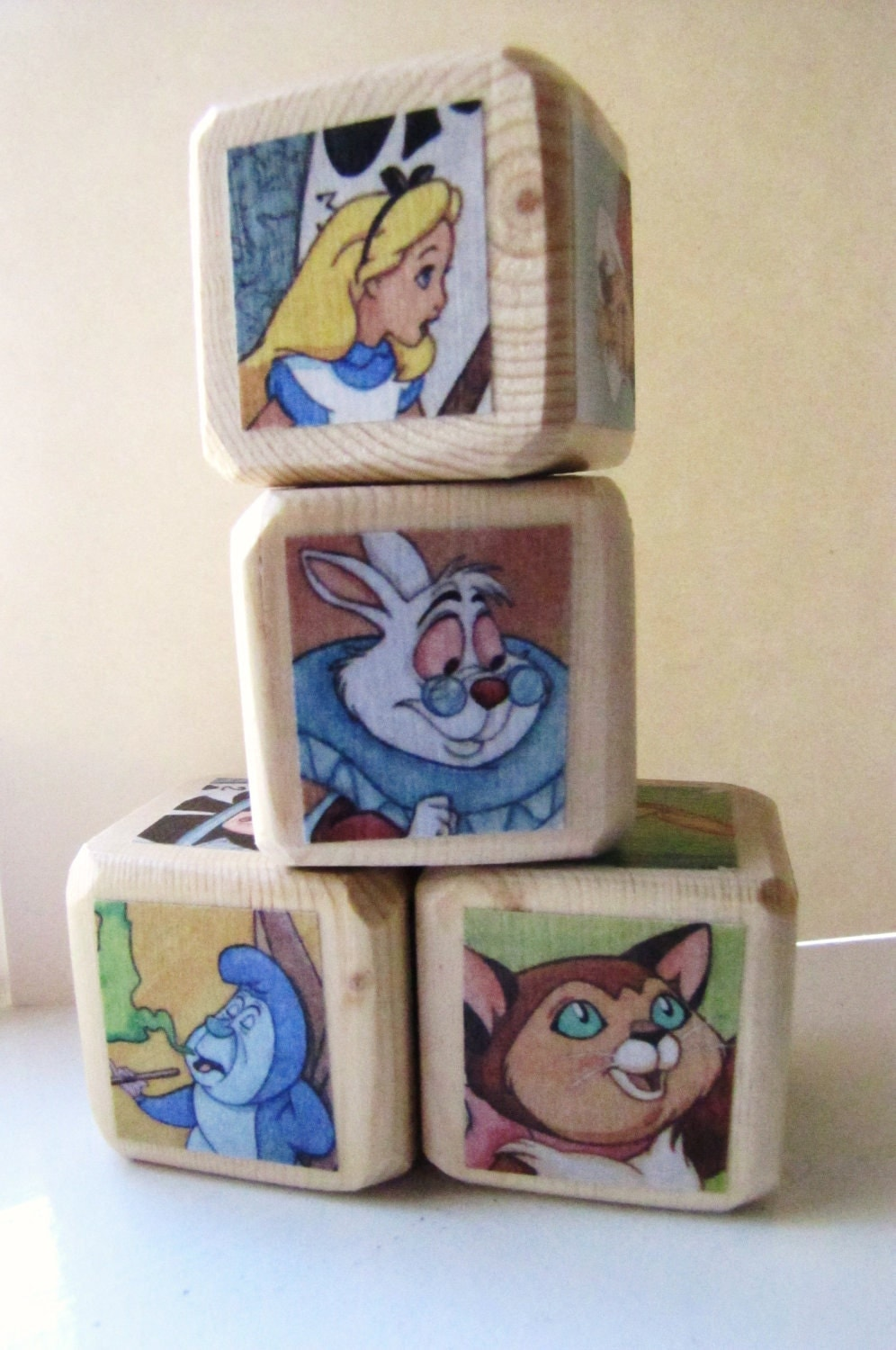 Alice in Wonderland Baby Blocks Nursery Decor & Baby Shower