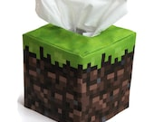 Minecraft inspired Grass Cube Tissue Box Cover