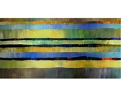 ORIGINAL PAINTING Abstract Modern Large 24X48 Gallery Wrap Canvas Modern Art  By Thomas John