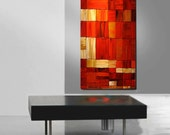 ABSTRACT ORIGINAL Painting  Large Verticle 24X48 Modern Gallery Wrap Canvas  By Thomas John