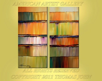 Original Painting  Large 2 Canvas 48x48 Abstract ready to hang Art By Thomas John