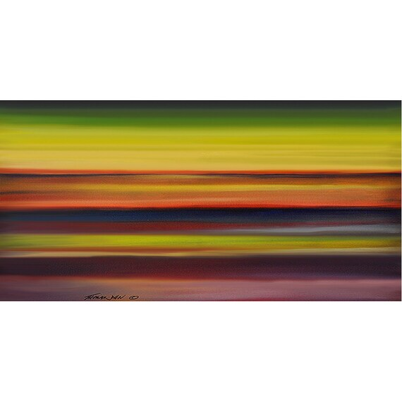 ORIGINAL PAINTING Abstract 24x48  Modern Surrealism Landscape Fine Art By Thomas John