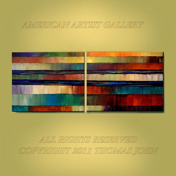 ORIGINAL PAINTING  2 panel 24x60 Gallery Wrap Canvas By Thomas John