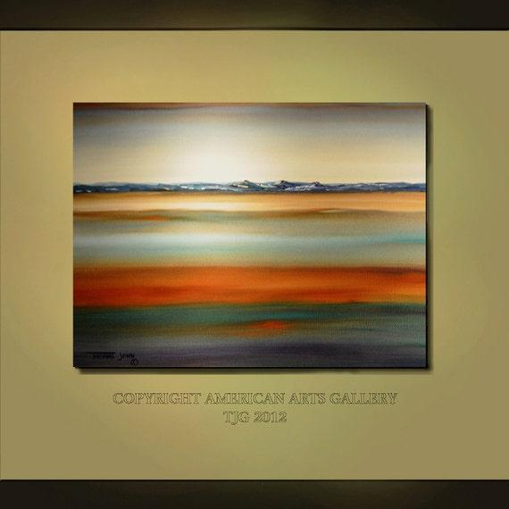ORIGINAL PAINTING Abstract Large 30x40 Modern Landscape Surrealism Fine Art By Thomas John