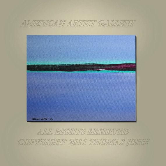 CUSTOM PAINTING Original Large 30x40 Modern Abstract  Seascape Art By Thomas John