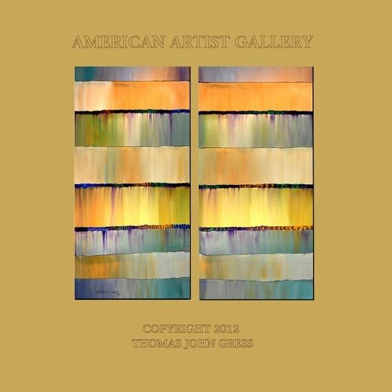 Original Painting Modern Abstract Large 2 Canvas 48x48 Fine Art  By Thomas John