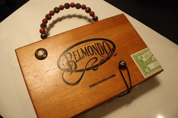 AUDREY HEPBURN vintage cigar box purse/collectible