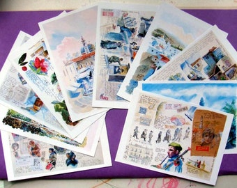 Jerusalem postcards beautiful unframed set
