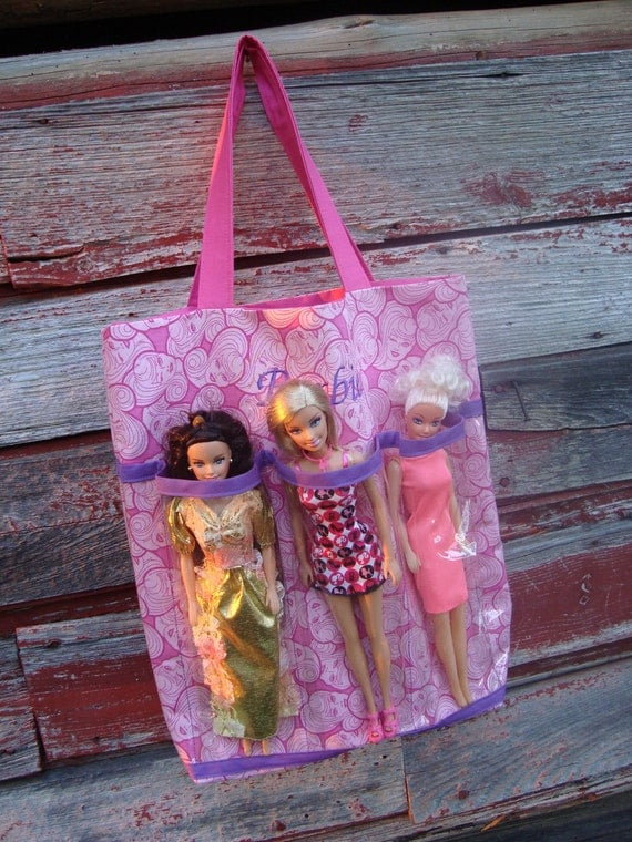 Embroidered Barbie Tote Bag
