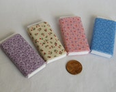 Dollhouse Miniature Set of Four Bolts of Fabric - Pastel  Assortment
