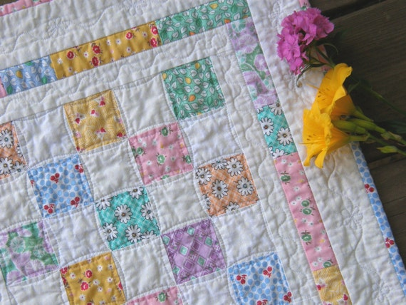 Quilted Table Topper - Bright and Cheerful Patchwork