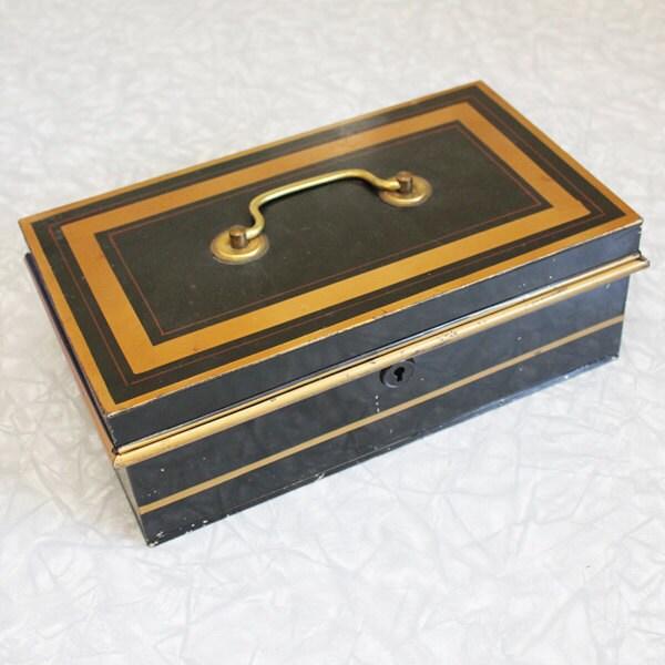 Tin Mailbox: Items Similar To Vintage Tin Cash Box Made In England On Etsy