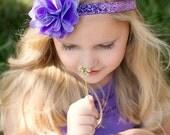 Purple Headband Purple Baby Headband Purple Baby Headband Purple Toddler Headband Glitter Headband For Girls Child Headband Baby Girl Bows
